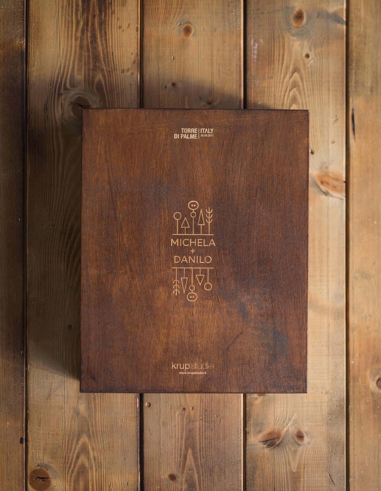 wedding packaging and handcrafetd album