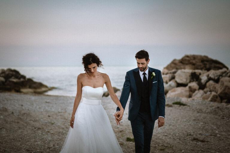Fotografie Matrimonio Tramonto Grottammare Marche